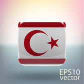 Turkish Republic of Northern Cyprus flag — Stock Vector
