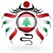 Lübnan Bayrağı — Stok Vektör