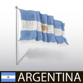 Argentinian Flag — Stock Vector