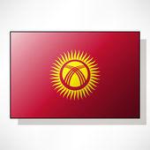 Flag of Kyrgyzstan — Stock Vector