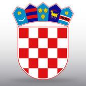 Coat of arms of Croatia — Stock Vector