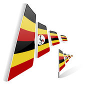 Flag of Uganda — Wektor stockowy
