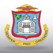 Cappotto delle armi di Sint Maarten — Vettoriale Stock