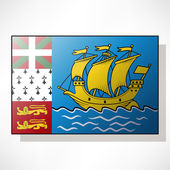 Flag of Saint Pierre and Miquelon — Stock Vector