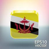 Flag of Brunei — Stock Vector