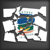 Flag of Guiana — Vecteur