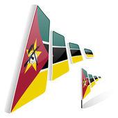 Flag of Mozambique — Stock Vector