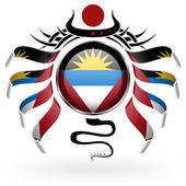 国旗的安提瓜和巴布达 — 图库矢量图片
