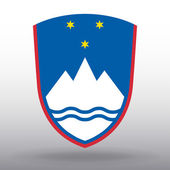 Coat of arms of Slovenia — Stock Vector