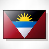 Flag of Antigua and Barbuda — Stock Vector