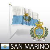 Flag of San Marino — Stock Vector