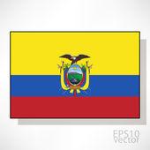 Flag of Ecuador — Stockvector