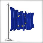 Flagge der europäischen union — Stockvektor