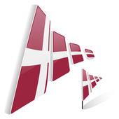 Bandera de dinamarca — Vector de stock