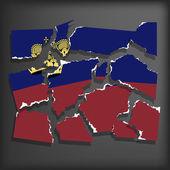 Flag of Liechtenstein — Stock Vector