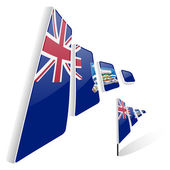 Flag of Falkland Islands — Stock Vector