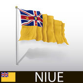 Flag of Niue — Stock Vector