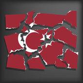 Flag of Turkey — Stock Vector