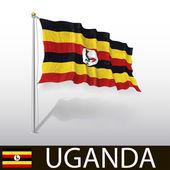 Flag of Uganda — Stock Vector