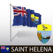Vlag van Sint-helena — Stockvector