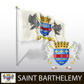 Flag of Saint Barthelemy — Stock Vector