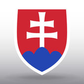 Coat of arms of Slovakia — Stock Vector
