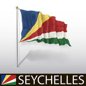 Vlag van Seychellen — Stockvector