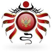 Flag of Montenegro — Stock Vector