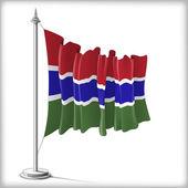 Gambias flagga — Stockvektor