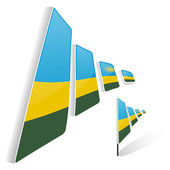 ルワンダの旗 — ストックベクタ