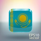 Flag of Kazakhstan — Stock Vector