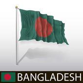 Bangladeshi Flag — Stock Vector
