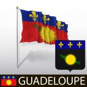 Flag of Guadeloupe — Stock Vector
