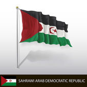 Flag of Sahrawi Arab Democratic Republic — Stock Vector