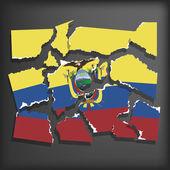 Flag of Ecuador — Stock Vector