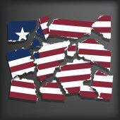 Flag of Liberia — Stock Vector