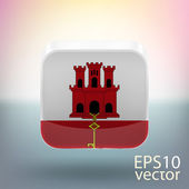Flag of Gibraltar — Stock Vector