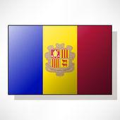 Flag of Andorra — Stock Vector