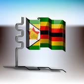 Flag of Zimbabwe — Stock Vector