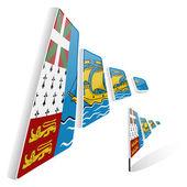 Flag of Saint Pierre and Miquelon — Stock Vector