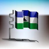 莱索托的旗子 — 图库矢量图片