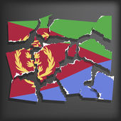 Flag of Eritrea — Stock Vector