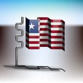 利比里亚的旗子 — 图库矢量图片