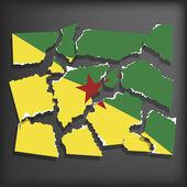 Flag of Guiana for Freedom — Vecteur