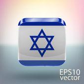 Bandera de israel — Vector de stock