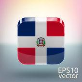 Flag of Dominican Republic — Stock Vector