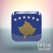 Flag of Kosovo — Stock Vector