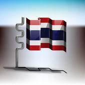 Flag of Thailand — Stock Vector