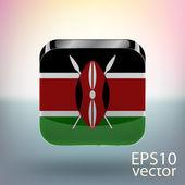 Vlag van kenia — Stockvector