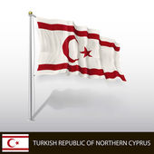 Flag of Turkish Republic of Northern Cyprus — Stock Vector